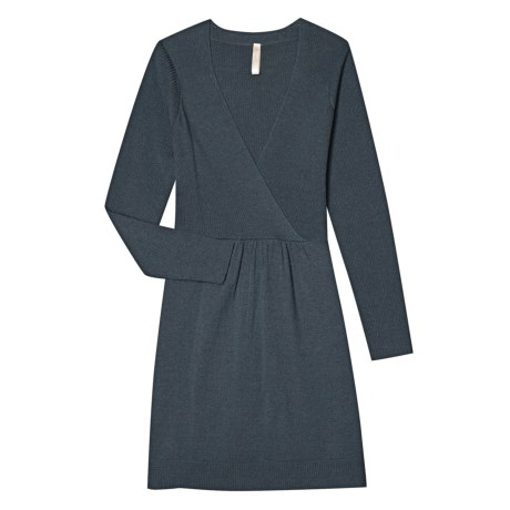 Aventura Clothing Zoe Sweater Dress - Merino Wool, Long Sleeve (For Women) in Dark Slate