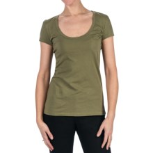 Aventura Clothing Zola T-Shirt - Short Sleeve (For Women) in Dusky Green - Closeouts