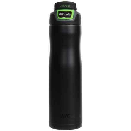 AVEX Brazos Autoseal® Water Bottle - 24 fl.oz., Stainless Steel in Matte Black - Closeouts