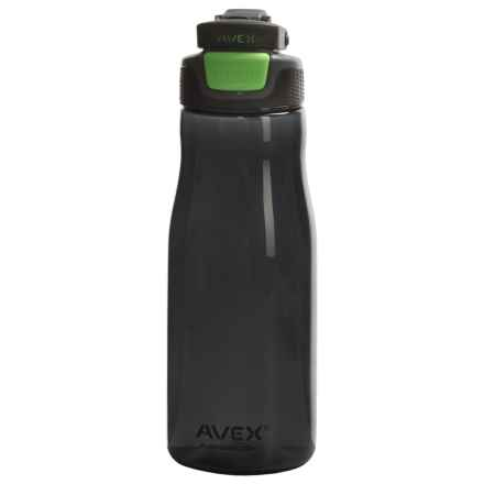 Avex Brazos Autoseal® Water Bottle - 32 fl.oz., BPA-Free in Charcoal/Electric Green - Closeouts