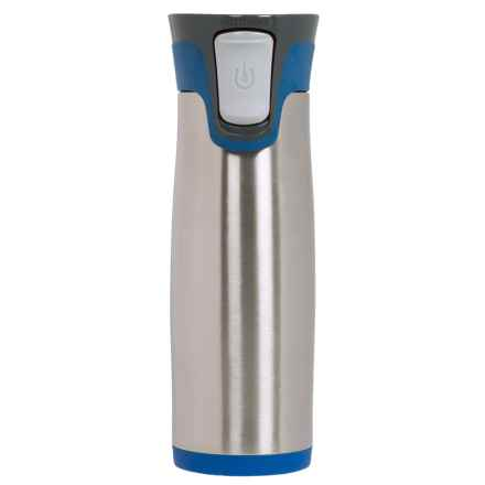 Avex Highland Autoseal® Travel Mug - 16 fl.oz., Stainless Steel in Blue - Closeouts