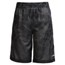 Avia High-Performance Shorts (For Little and Big Boys) in Dark Grey/Safety Yellow - Closeouts