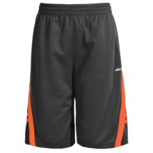 Avia High-Performance Shorts (For Little and Big Boys) in Dark Grey/Shock Orange - Closeouts