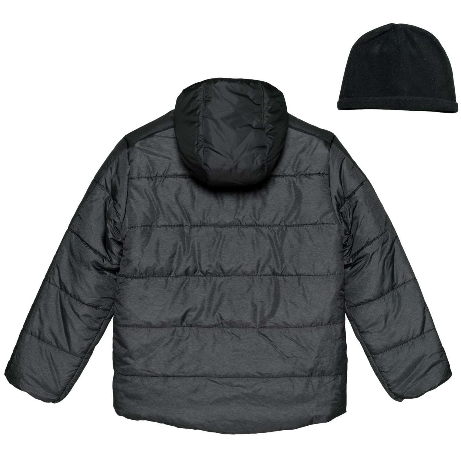 3cd7072f AXCENT Heather Black Bubble Jacket (For Little Boys)