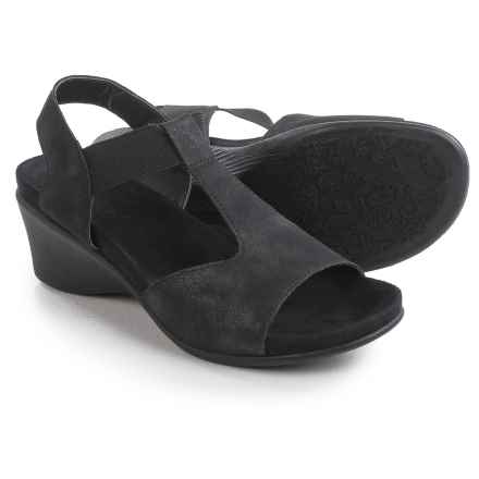 Axxiom Almas T-Strap Sandals - Vegan Leather (For Women) in Black - Closeouts