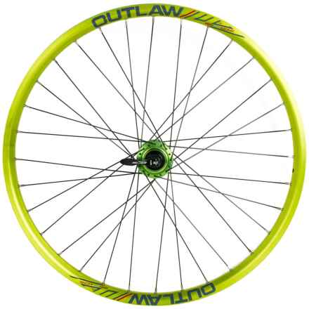 """Azonic Outlaw 26"""" Wheelset in Anodized Green - Closeouts"""