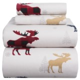 Azores Flannel Printed Moose Sheet Set - King