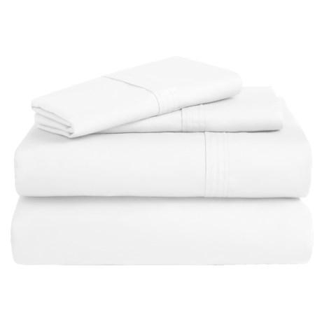 Azores Home 300 TC Cotton Percale Sheet Set - Queen, Deep Pocket