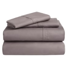 Azores Home 300 TC Cotton Percale Sheet Set - Twin XL, Deep Pocket in Grey - Overstock