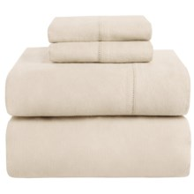 Azores Home Heavyweight Flannel Sheet Set - California King, 200gsm Cotton in Linen - Closeouts