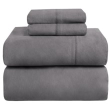 Azores Home Heavyweight Flannel Sheet Set - Full, 200gsm Cotton in Grey - Closeouts