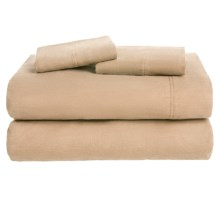 Azores Home Solid Flannel Sheet Set - Queen, Deep Pockets in Cashmere - Overstock