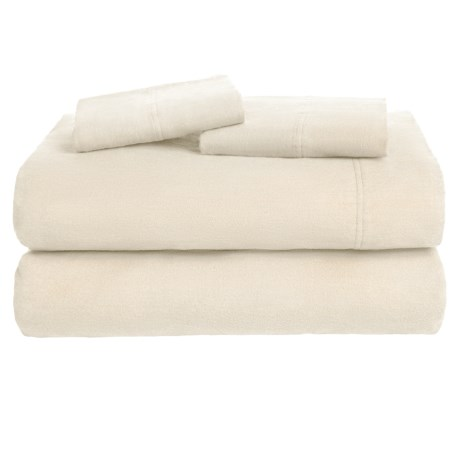 Azores Home Solid Flannel Sheet Set - Queen, Deep Pockets
