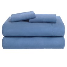 Azores Home Solid Flannel Sheet Set - XL Twin, Deep Pockets in Pale Blue - Overstock
