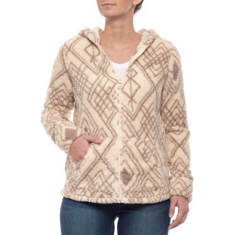 Image of Aztec Print Fleece Sweater (For Women)