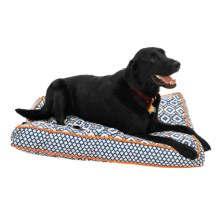 "Aztec Rectangle Dog Bed - 27x36"" in Blue - Closeouts"