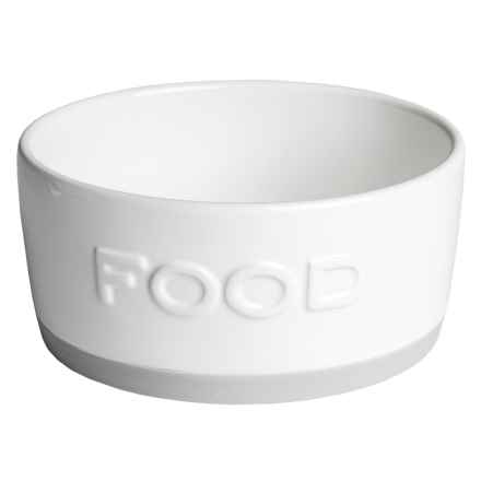 Azzure Ceramic Food Dog Bowl - Rubber Bottom in Food - Closeouts