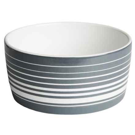 Azzure Ceramic Graphic Dog Bowl in Stripe - Closeouts