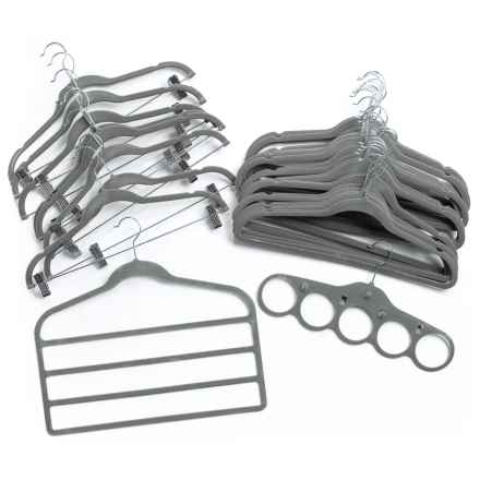 Azzure Home Complete Closet Hanger Set - 30-Pack in Pewter - Closeouts