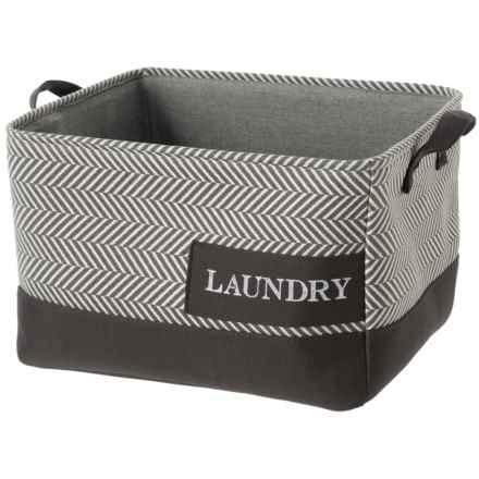 Azzure Laundry Patch Storage Bin - Medium in Grey - Closeouts