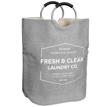 """Azzure Laundry Tote Bag - 24x24"""" in Grey/Natural - Closeouts"""
