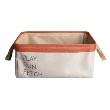Azzure Play, Run, Fetch Dog Toy Bin in Ivory - Closeouts