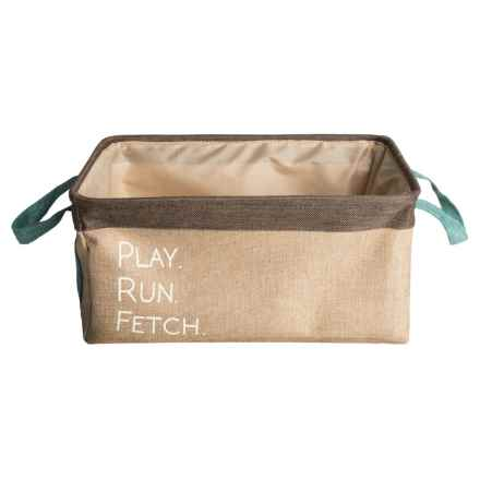 Azzure Play, Run, Fetch Dog Toy Bin in Taupe - Closeouts