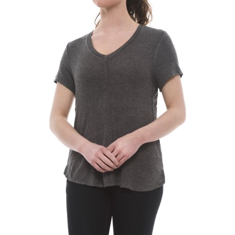 B Collection by Bobeau Adley T-Shirt - Short Sleeve (For Women) in Charcoal Grey