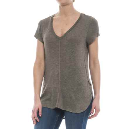 B Collection by Bobeau Adley T-Shirt - Short Sleeve (For Women) in Taupe - Closeouts