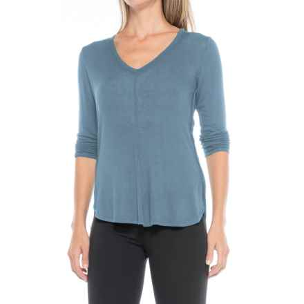 B Collection by Bobeau Alice Shirt - Long Sleeve (For Women) in Blue - Closeouts