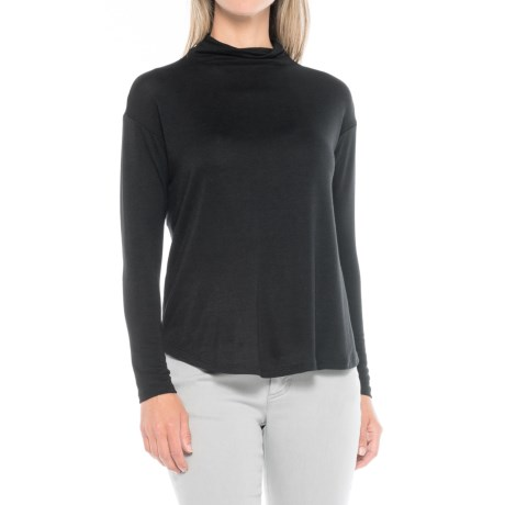 B Collection by Bobeau Bexley Mock Neck Shirt - Long Sleeve (For Women) in Black