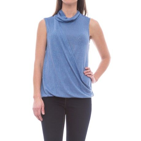 B Collection by Bobeau Bijou Cowl Neck Tank Top (For Women) in Chambray