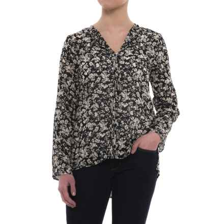 B Collection by Bobeau Cristy Pleat Back Shirt - Long Sleeve (For Women) in Black - Closeouts