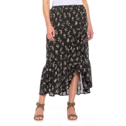 B Collection by Bobeau Emer Wrap Ruffle Skirt (For Women) in Ditsy Floral - Closeouts