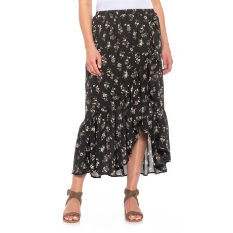 B Collection by Bobeau Emer Wrap Ruffle Skirt (For Women) in Ditsy Floral