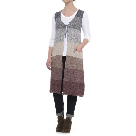 B Collection by Bobeau Fano Duster Sweater - Sleeveless (For Women) in Mixed Colors