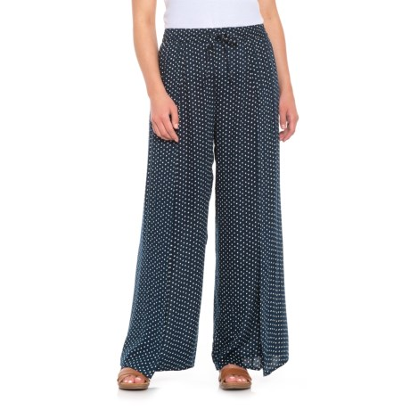 B Collection by Bobeau Ita Polka-Dot Pants (For Women) in Navy