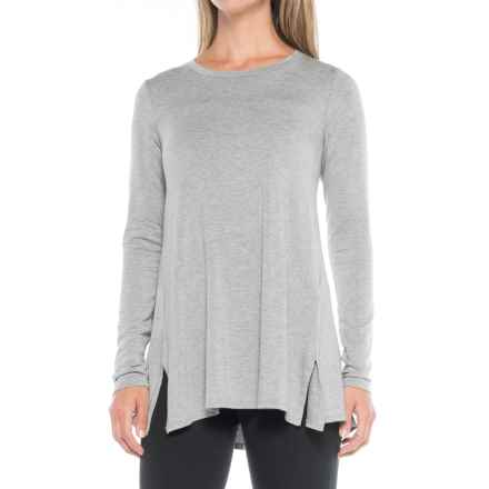 B Collection by Bobeau Jade Shirt - Long Sleeve (For Women) in Heather Grey - Closeouts