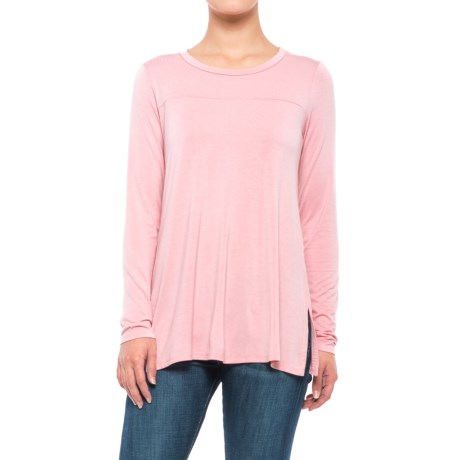 B Collection by Bobeau Jade Shirt - Long Sleeve (For Women) in Light Pink