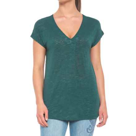 B Collection by Bobeau Janet Front Pleat Shirt - Short Sleeve (For Women) in Jade - Closeouts
