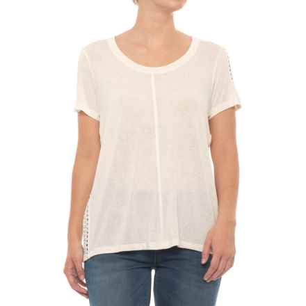 B Collection by Bobeau Janie T-Shirt - Short Sleeve (For Women) in Oatmeal - Closeouts
