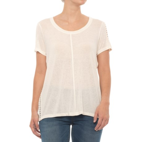 B Collection by Bobeau Janie T-Shirt - Short Sleeve (For Women) in Oatmeal