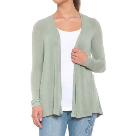 B Collection by Bobeau Keegan Cardigan Sweater - Open Front (For Women) in Avocado - Closeouts