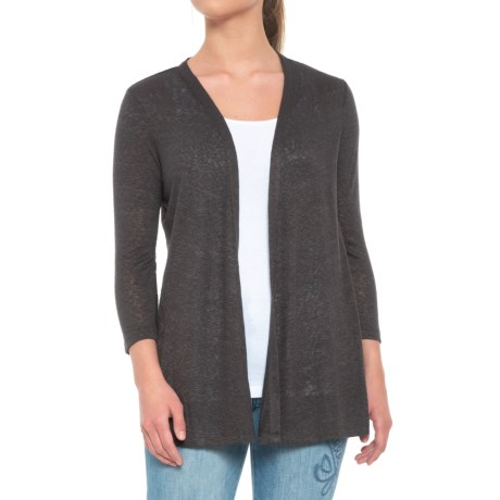B Collection by Bobeau Keegan Cardigan Sweater - Open Front (For Women) in Charcoal Grey