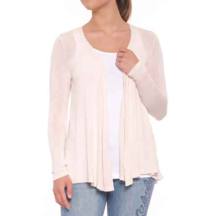 B Collection by Bobeau Keegan Cardigan Sweater - Open Front (For Women) in Peony - Closeouts