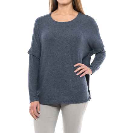 B Collection by Bobeau Kris Slouch Shirt - Long Sleeve (For Women) in Stone Blue - Closeouts