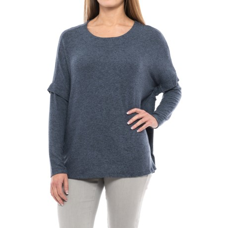 B Collection by Bobeau Kris Slouch Shirt - Long Sleeve (For Women) in Stone Blue