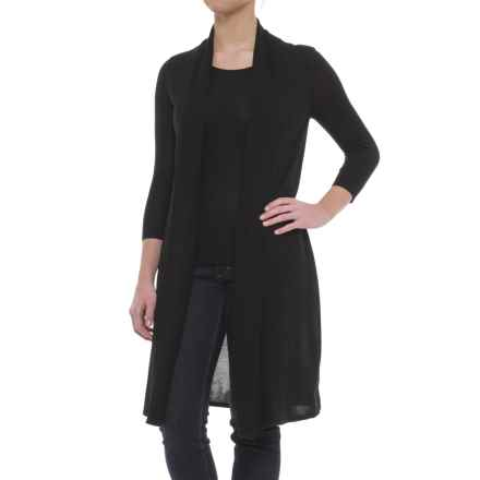 B Collection by Bobeau Layered Cardigan Sweater (For Women) in Black - Closeouts