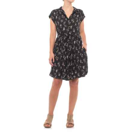 B Collection by Bobeau Mare Dress - Short Sleeve (For Women) in Ditsy Floral - Closeouts