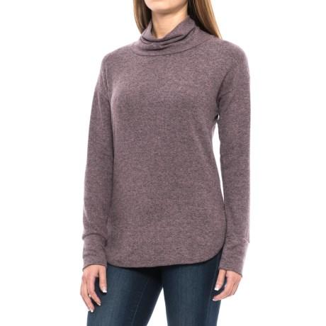 B Collection by Bobeau Melanie Cowl Neck Shirt - Long Sleeve (For Women) in Amethyst